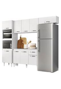 Cozinha Modulada 4 Módulos Composiçáo 2 Branco - Lumil Móveis