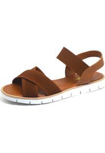 Rasteira S2 Shoes Elástico Caramelo