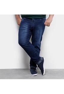 Calça Jeans Plus Size Preston Elastano Masculina - Masculino