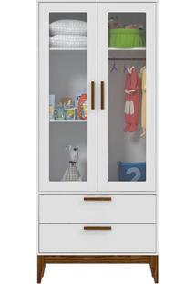 Guarda Roupa Infantil Nature Glass 2 Portas Branco Eco Wood – Matic