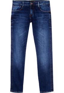 Calca Premium Dark Blue Selvedge Denim (Jeans Escuro, 48)