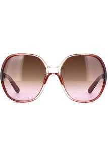 ... Óculos De Sol Chloé Ce718S 608 59 Bordô Degradê 837272d8c8