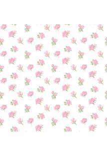 Papel De Parede Coleção Bim Bum Bam Branco Rosa Flores 2221 Cristiana Masy