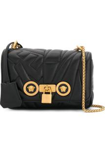 Versace Bolsa Transversal 'Medusa Stud Icon' - Preto