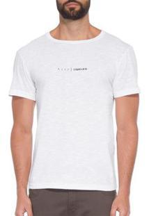 T-Shirt Osklen Organic Rough Asap Masculina - Masculino-Branco