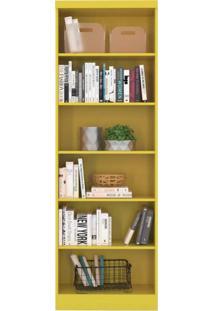 Estante Para Livros 5 Prateleiras Linus Qmovi Amarelo