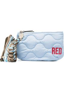 Red(V) Clutch Matelassê Com Logo Bordado - Azul