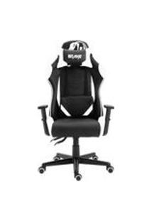 Cadeira Gamer Profissional Snake Krait Reclinavel Giratoria Preta E Branca B88
