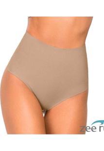 Calcinha Fio Dental Alta Nude Cotton Bege Ca105 Be