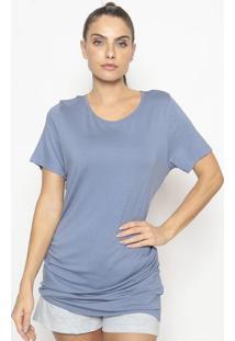 Blusa Alongada Easywear- Azul Escuro- Easyweareasywear