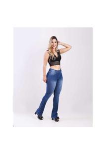 Calça Jeans Feminino Djak Flare Com Elastano 2111208