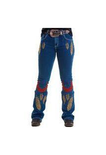 Calça West Dusy Yucatan Megan Bootcut Jeans Escuro