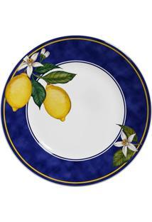 Jogo De Pratos Rasos Scalla Sicília - Limões Sicilianos (6 Peças) - Tricae
