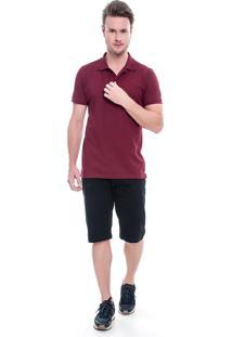 Bermuda Sarja Lemier Jeans Collection Slim Preta