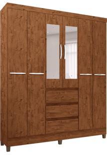 Guarda-Roupa Casal Com Espelho Veneza 6 Pt 3 Gv Legno Naturale