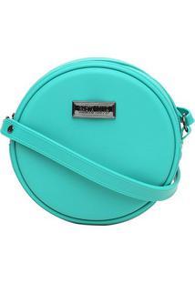 Bolsa Santa Lolla Redonda Mini Bag Borracha Feminina - Feminino-Azul Piscina