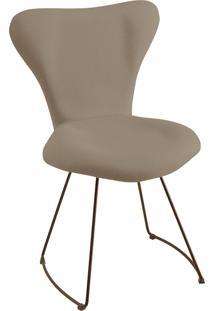Cadeira Jaçobsen Aço Preto T1071 Linho Cinza Daf