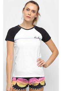 Camiseta Hurley Raglan Line Bars Feminina - Feminino