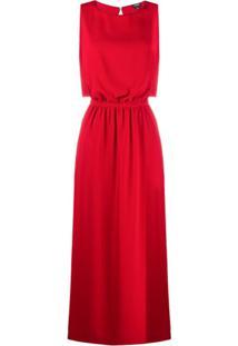 Aspesi Vestido Com Alças Cruzadas - Vermelho