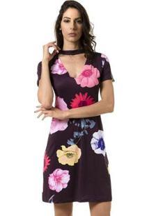 Vestido Bloom Curto Estampado Floral - Feminino