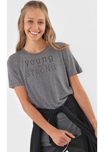 Camiseta Colcci Young And Strong Cinza