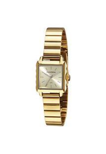 Kit Relógio Mondaine Feminino Dourado Analógico 32218Lpmvde1K + Pulseira Dourado
