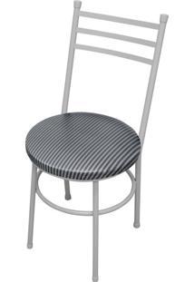 Cadeira Vittoria Craqueado/Tick Listras Açomix