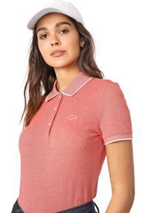 Camisa Polo Lacoste Logo Vermelha