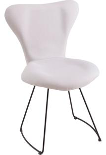 Cadeira Jaçobsen Aço Preto T1117 Branco Daf