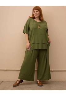 Conjunto Catarina Plus Size Verde Escuro-Gg Verde