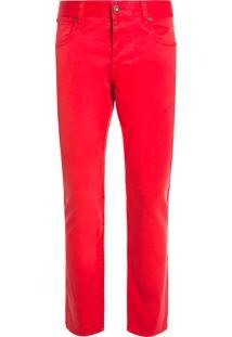 Calça Masculina Gabardina - Vermelho
