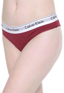 Calcinha Calvin Klein Underwear Tanga Modern Vermelha