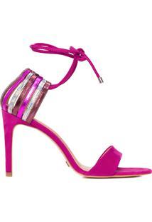 Sandália Feminina Tiras Multicolor - Rosa