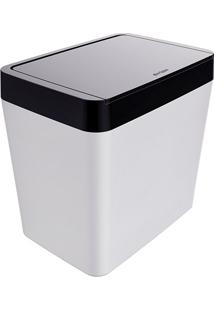 Lixeira Para Pia 5 Litros Smart - Branco/Preto - Multistock