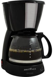 Cafeteira Elétrica Jarra Vidro Preta Inox Britânia 110V Cp15