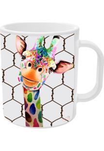 Caneca Vickttoria Vick Girafa Divertida Tamanho Unico