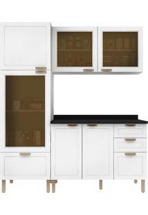 Cozinha Modulada 4 Peças Com Tampo E Nevada 5600Vdtp-Multimóveis - Branco Premium