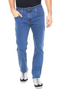 Calça Jeans Polo Play Reta Duo Azul