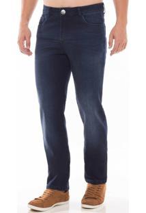 Calça Jeans Slim Fit Osmoze Masculina - Masculino-Azul