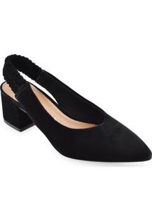 Scarpin Chanel Feminino Bico Fino Salto Baixo Off Line 530421263