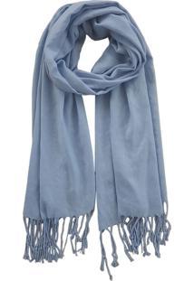 Cachecol Bag Dreams Com Franja Azul Claro