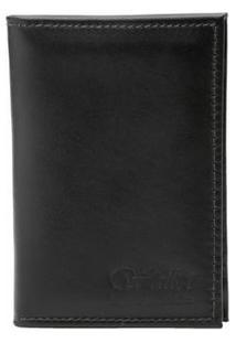 Carteira Wallet Legitimate Leather Porta Documentos - Masculino-Preto