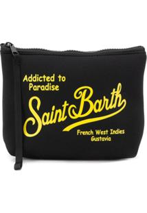 Mc2 Saint Barth Kids Clutch Com Logo E Zíper - Preto