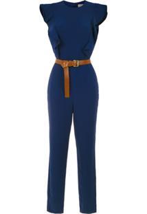 Michael Michael Kors Macacão Com Cinto - Azul