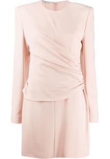 Stella Mccartney Vestido Slim Com Recorte Franzido - Rosa