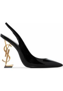 Saint Laurent Scarpin Black Opyum 110 - Preto