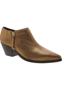 Ankle Boot Metalizada- Ouro Velhoarezzo & Co.