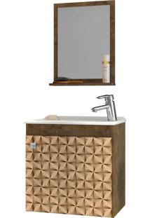 Conjunto P/ Banheiro Siena Madeira Rústica Móveis Bechara