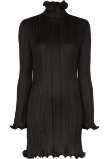 Givenchy Vestido Com Acabamento De Babados - Preto