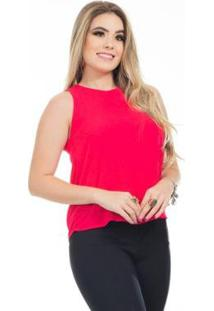 Blusa Clara Arruda Detalhe Costa 20614 Feminina - Feminino-Pink